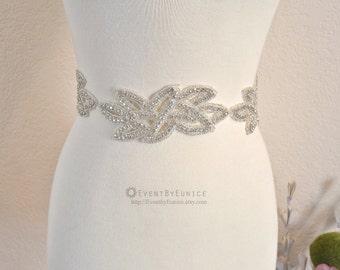 Wedding Belt, Bridal Belt, Wedding Sash, Bridal Sash, Crystal belt, Crystal sash, Bridesmaid Belt, Swarovski Sash, Swarovski Belt APPLE