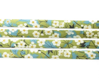 Mitsi C Liberty bias binding 1x Yard - 10mm, Liberty fabric, bias binding UK, sewing supplies, jewellery making materials