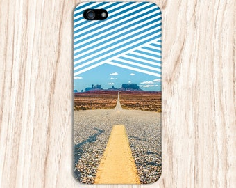 Lone Desert Road x Striped Sky Design Case for iPhone 6 6 Plus iPhone 7  Samsung Galaxy s8 edge s6 and Note 5  S8 Plus Phone Case