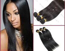 Top A+ Grade 100% unprocessed Brazilian Virgin Straight  Human Hair Weave  2pcs Bundle (200g) Soft, No tangling and shedding