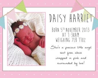 Baby thank you cards | Etsy UK