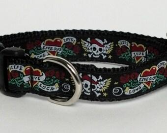 Skulls Dog Collar, crossbones