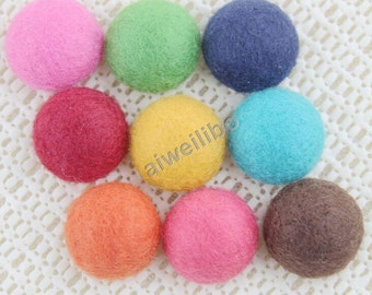 Mixed Color Round Buttons, Fabric Flat Back Buttons, Cloth buttons, Covered Buttons