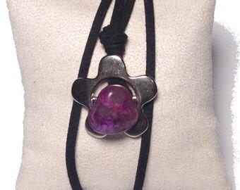 Brazilian Stone Flower Necklace