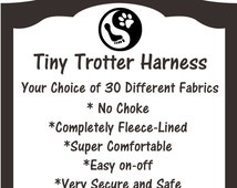 """Small Dog """"Tiny Trotter"""" Fleece-Lined Dog Harness – Comfy, No-Choke, Easy On-Off, Chihuahua, Dachshund, Yorkie, Maltese, Poodle,Terrier"""