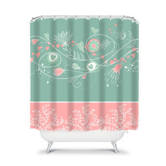 items similar to floral shower curtain wispy turquoise