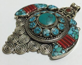 P53 Turquoise Tibetan Pendant
