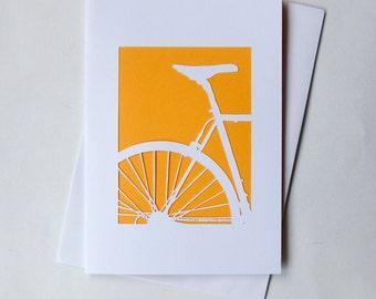 Handcut Bike Greeting Cards