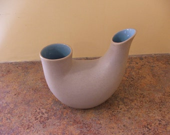 Vintage 1960s Pigeon Forge Pottery Double Vase