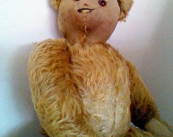 Ideal Teddy Bear, Mohair Antique Bear, 20 inches, c1910