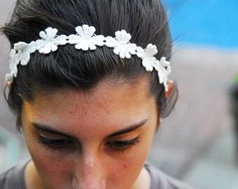Fabric Flower Headband Handmade