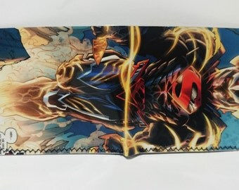 Superman Armor-  comic book wallet, slim wallet, hanmade wallet, card holder, thin wallet, vinyl wallet, mens wallet,