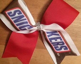 CANDY BAR cheer bow
