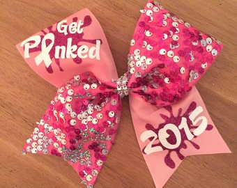 get pinked breast-cancer awareness cheer bow