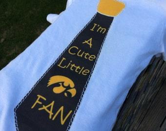 Iowa Hawkeye Lil Fan Tie Onsie