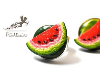 Slice of Watermelon-Ring Fimo-Summer Collection-Jewelry Food
