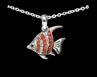Orange Fish Necklace