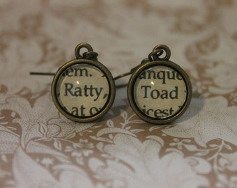 Ratty ~ Toad Earrings ~ The Wind In The Willows ~ Kenneth Grahame ~