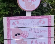Unique welcome home baby related items etsy for Welcome home new baby decorations