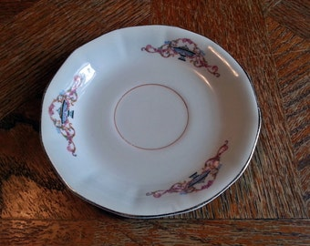 Vintage S.C. Co. Martha Washington Floral Saucer