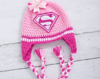 superman inspired hat little girl superman hat girl superman hat newborn hat newborn photo prop little girl hat baby girl hat newborn girl