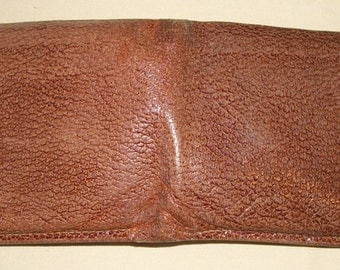Vintage Genuine PIG LEATHER SKIN Wallet Billfold The Mercury