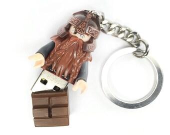 Lego Gimli USB Minifig Keychain - Lord of the Rings