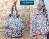 Tote Bag Pattern , Extra Large Beach Bag , Bag Pattern PDF, Bag Tutorial , Easy Bag PDF, Pattern For Beach Bag, Easy Bag PDF, Photo tutorial