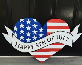 July 4th Outdoor Wood Decoration