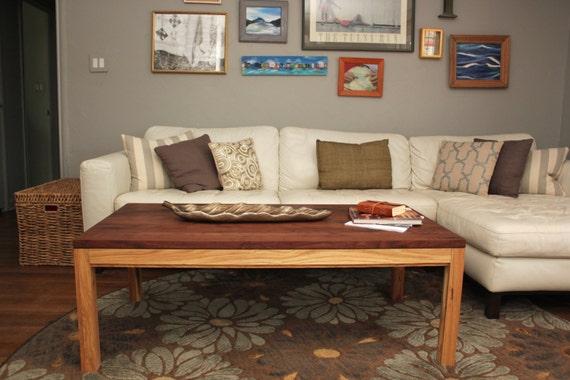 Walnut White Oak Parsons Coffee Table