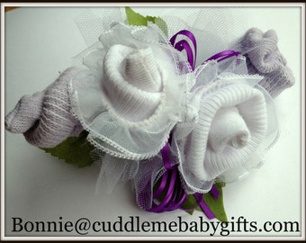 Baby Shower Baby Girl Baby Sock Corsage with Lace socks