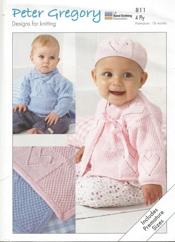Scarves Knitting Patterns Free : Items similar to Peter Gregory Pattern no 811 4 ply knitting pattern on Etsy
