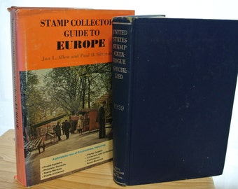 Vintage Stamp Books - Guide to Europe (1974) & 1959 Stamp Catalog