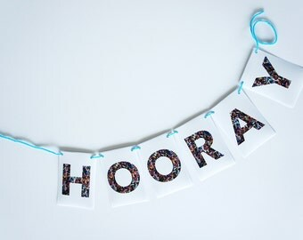 """Sprinkle """"Hooray"""" Banner - Party Decor - Custom Text Available - Graduation, Baby Shower, Baby Decor, Cupcake or Donut Party"""