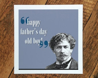 Fathers Day Card; Happy Father's Day Old Boy; Dad Card; Card For Dads; Father; GC240