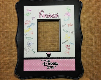 Disney Inspired Christmas Autograph Photo Mat Matte Double