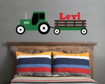 tractor wall decal | etsy