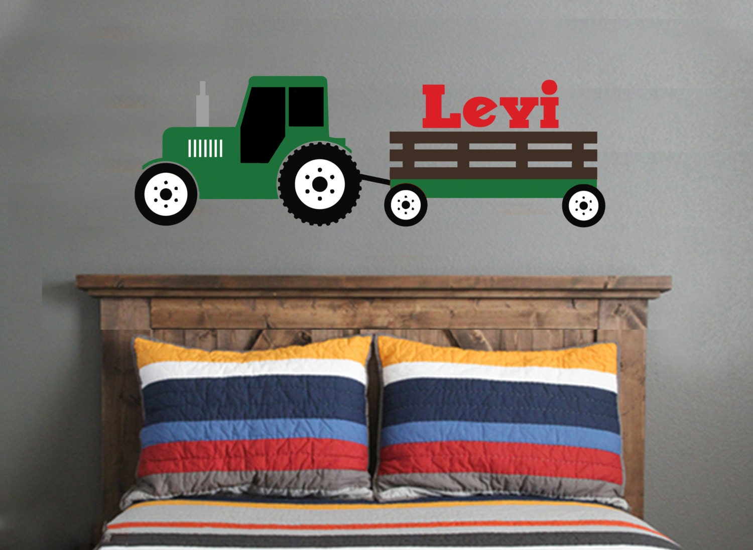 Tractor Wall Decal Green Tractor Wall Decal Boys Bedroom