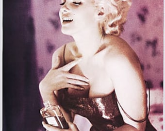 WALL ART, POSTER, Marilyn Monroe Channel #5 out of print poster 24 x 36