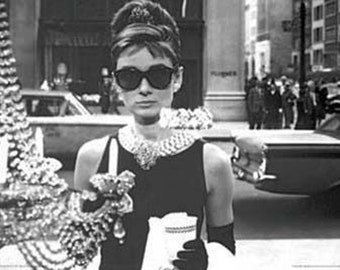 Breakfast At Tiffany's Audrey Hepburn poster 24 x 36