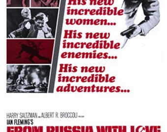 From Russia With Love Sean Connery James Bond 007 Poster 24 x 36