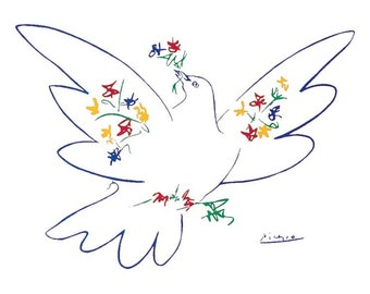 Pablo Picasso Dove Of Peace 22 x 28 poster print