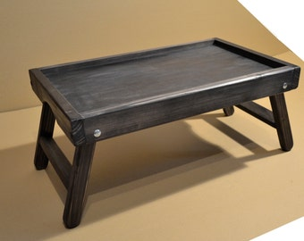 Rustic Wooden Laptop Table / Computer Table / Breakfast in bed tray / laptop stand
