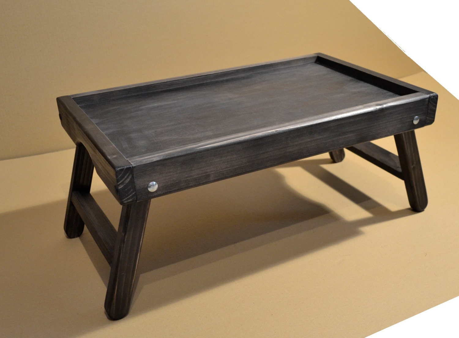 Very Impressive portraiture of Rustic Wooden Laptop Table / Computer Table / Breakfast by ArtViks with #987033 color and 1500x1107 pixels