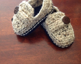 Crochet casual loafers, baby shoes, crochet baby loafers, crochet loafers, baby shoes