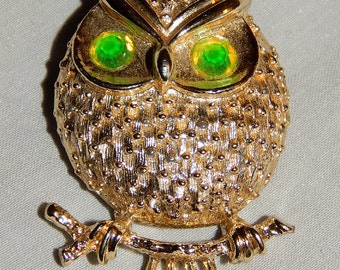 Cute Vintage Owl Brooch - Sarah Coventry, 1960s