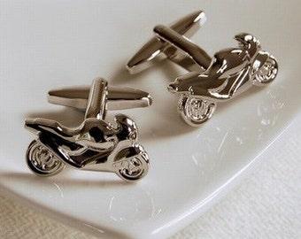 Motorbike Cufflinks - Highest Quality - Novelty and Humorous Cufflinks - Sleek and Stylish
