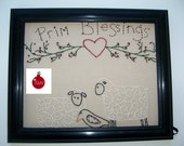 Country Sampler Primitive Blessings Sheep And Crow Wall Art