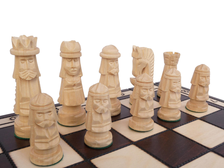 Unique Handmade Wooden Chess Set 50x50cm By Stylishchess
