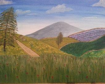 The poppy field original painting